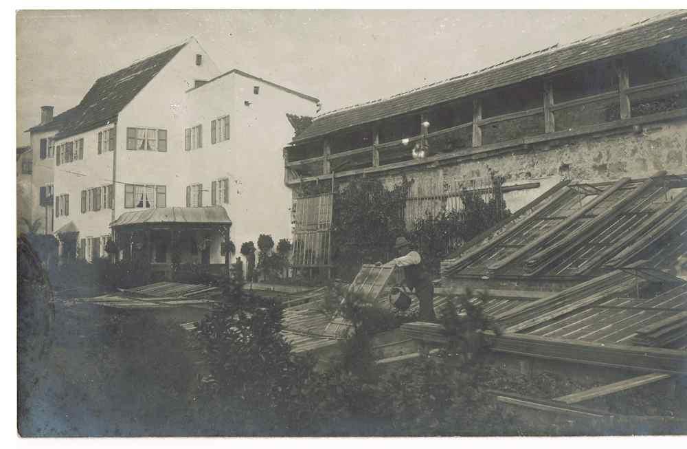 Historie1 alte Gärtnerei in der Stadtmauer