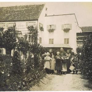 Alte Gärtnerei Pröbstl innerhalb der Stadtmauern ca 1890